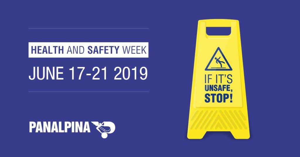 Panalpina Health & Safety Week campaign visual by The Unknown Creative