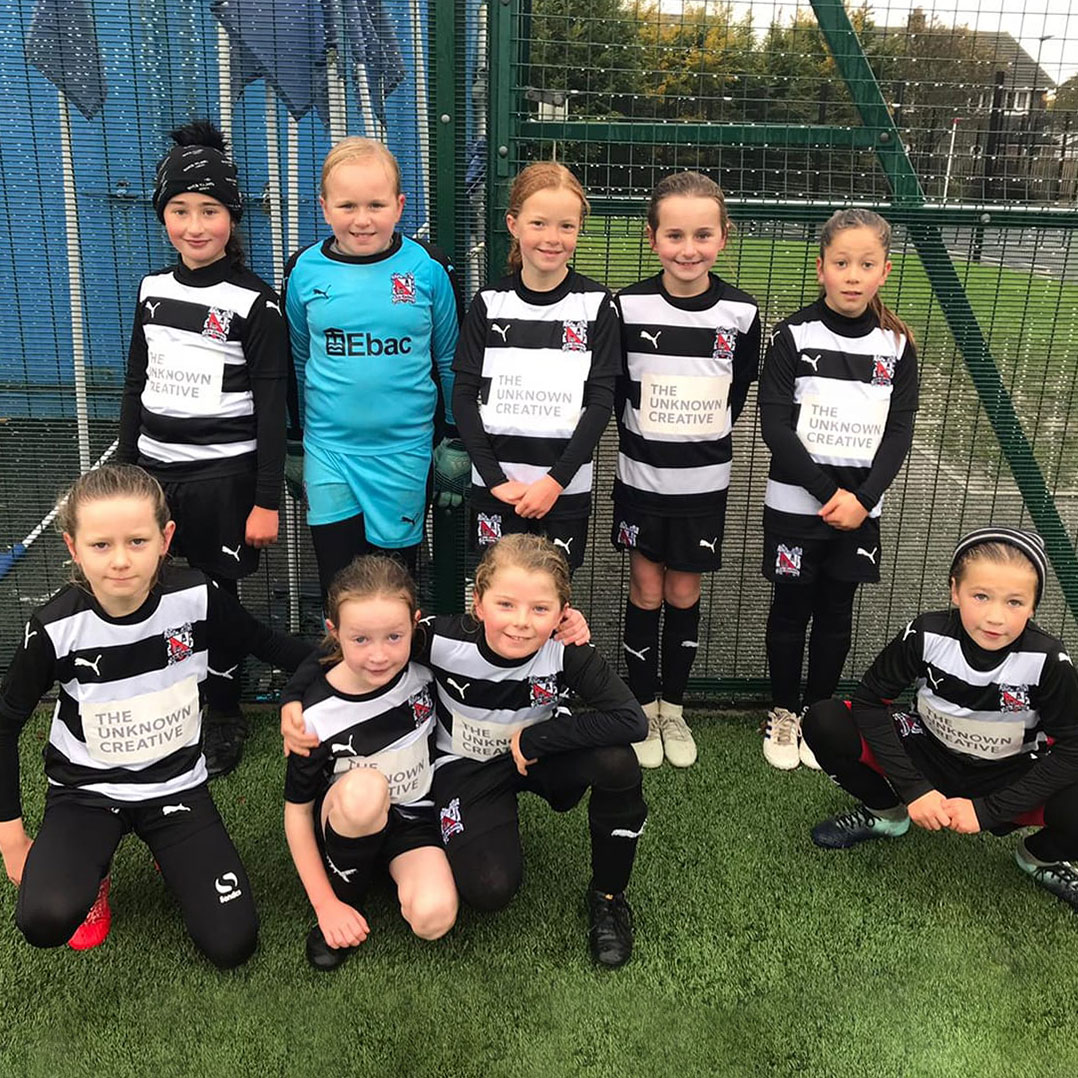 Proud sponsor of Darlington FC Girls future Lionesses