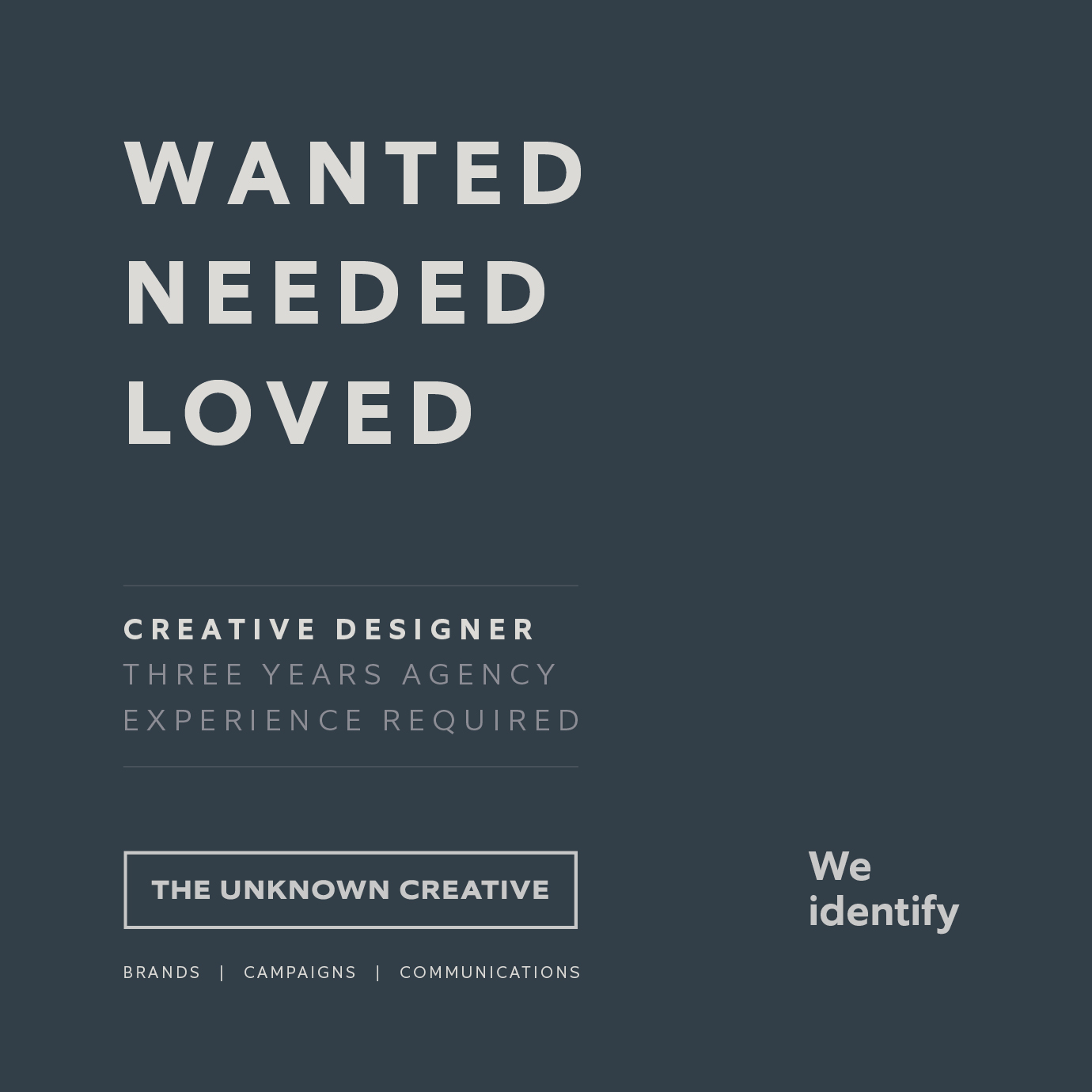Vacancy for a talented creative<br>designer in Newcastle Upon Tyne